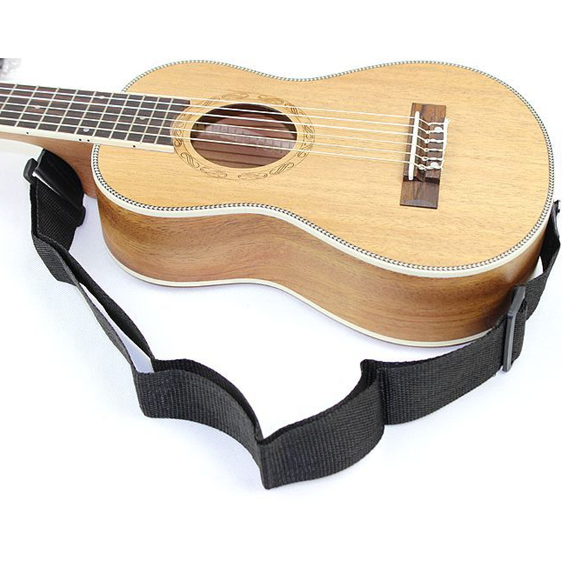 Universal Adjustable 78-136cm Nylon Guitar Strap Folk Guitar Wooden Guitar with PU Leather Ends for Guitar Player