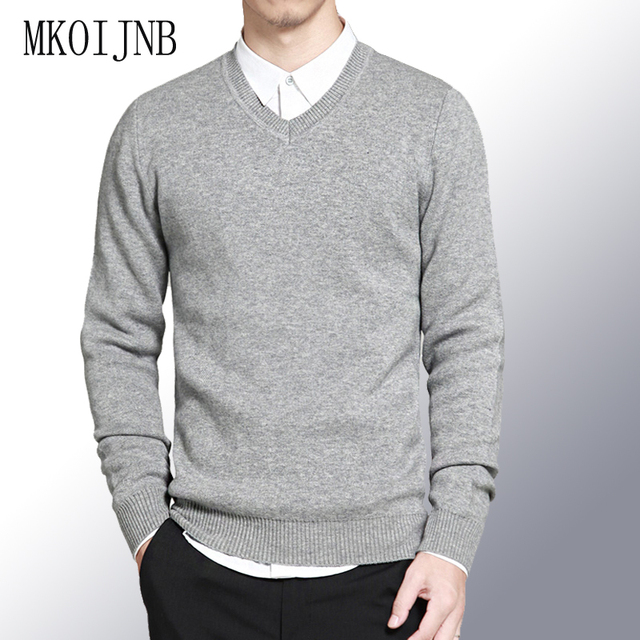 bcdd091f8 2018 Autumn Winter men sweaters pullovers Simple style cotton ...
