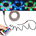 Free Shipping USB Cable DC5v 3528 RGB led strip light double PCB 60led/m stripe tape lamp + Remote Controller for TV Background