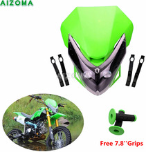 Street Fighters Headlight Fairing Motocross Dirt Bike Offroad Supermoto 20pcs LED Headlamp For Kawasaki KLX/KLR/KSR/KX 450/650