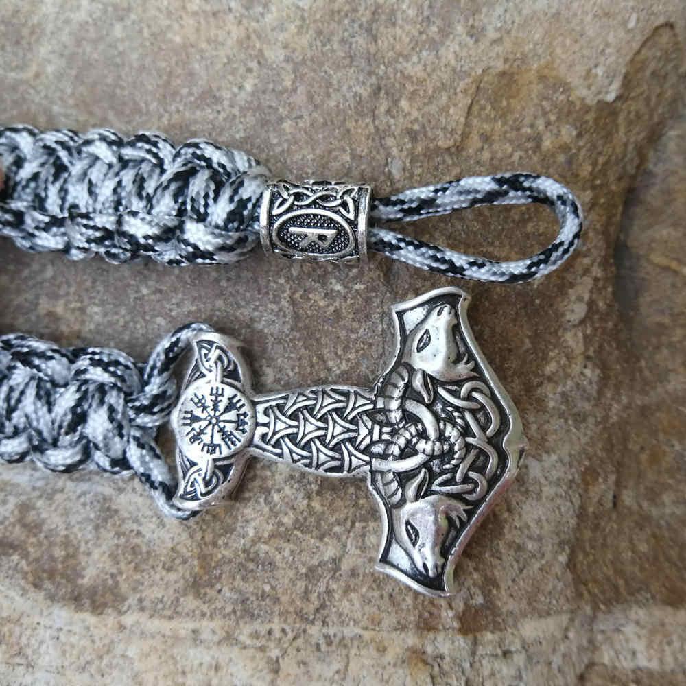 Dragon Bead Beads Talisman Paracord Buckle Keychain Bracelet Jewelry DIY EDC