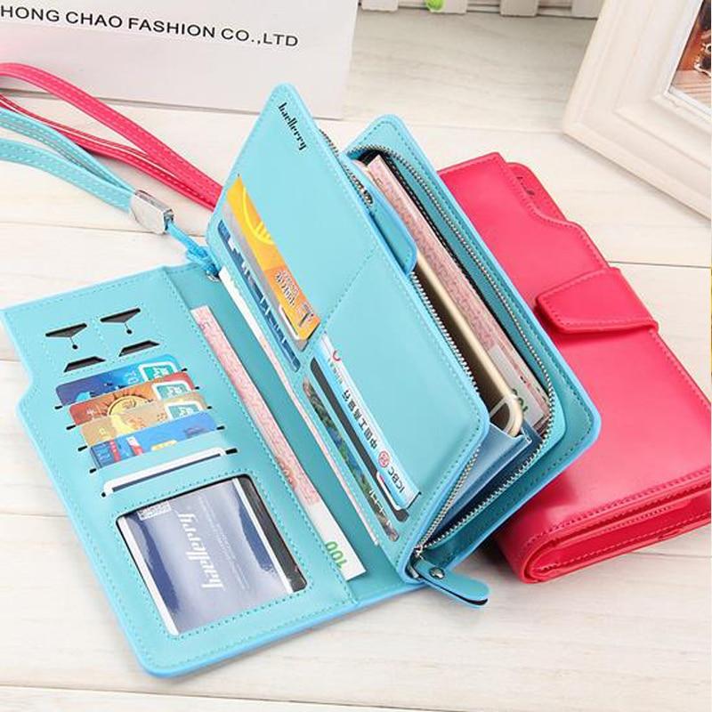 Women agraffe Wallet Multifunctional Zipper Purse Long Style Closure Huge capacity Fashion Hand Money Bag More Card Slots For Ph