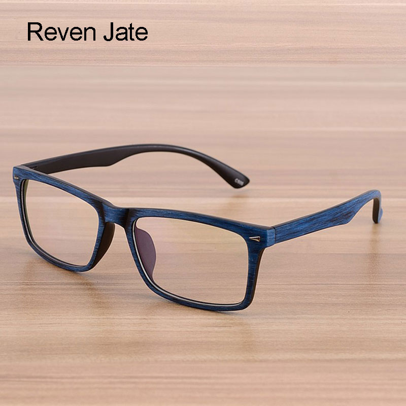Reven Glasses Menn og kvinner Unisex Wooden Pattern Fashion Retro Optisk Briller Briller Briller Vintage Eyewear
