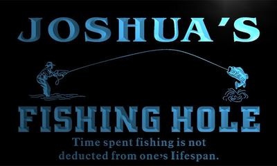 x0038-tm Joshuas Fishing Hole Custom Personalized Name Neon Sign Wholesale Dropshipping On/Off Switch 7 Colors DHL