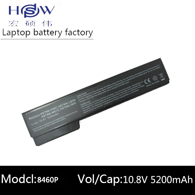 HSW laptop <font><b>battery</b></font> for HP 8460p 8460w 8470p 8470w 8560p <font><b>8570p</b></font> ProBook 6360b 6460b 6465b 6470b 6475b 6560b 6565b 6570b <font><b>battery</b></font> image