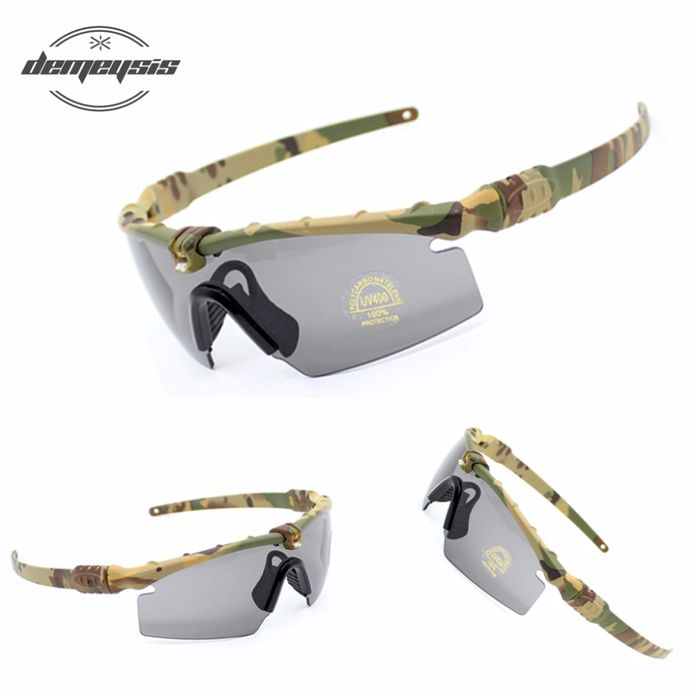 3e5da62109 Polarized Tactical Glasses Military Goggles Bullet proof Army Sunglasses  With 3 Lens Men Shooting Eyewear Motorcycle Gafas-in Hiking Eyewears from  Sports ...