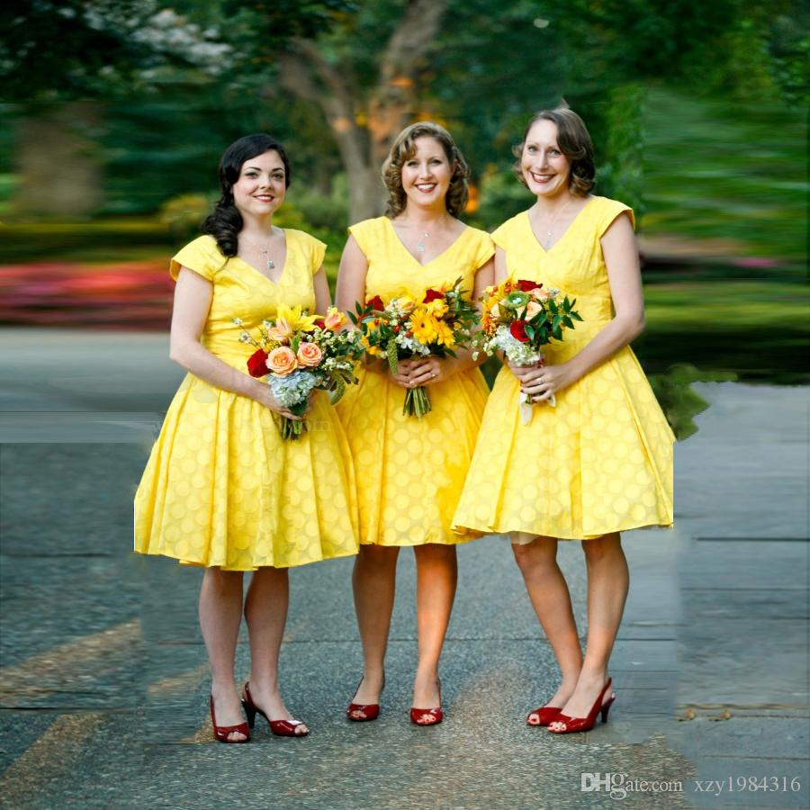 Popular short chiffon lace bridesmaid dresses buy cheap short 2016 yellow short chiffon lace bridesmaid dresses a line ruffle zipper back cheap wedding party gowns ombrellifo Choice Image