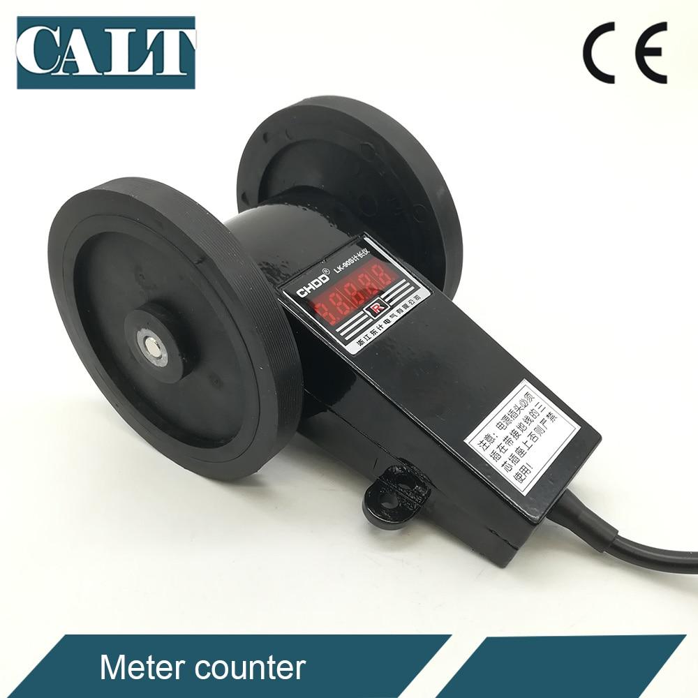 LK 90S / LK 90SC AC digital length measuring counter meter rotation counter meter wheel rolling type