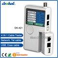 4 em 1 Controle Remoto USB BNC RJ45 RJ11 Cable Tester