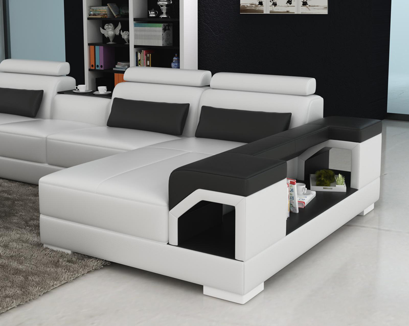 Attractive New Model Living Room Leather Sofa G8010 In Living Room Sofas From Furniture  On Aliexpress.com | Alibaba Group