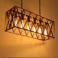 6 головок металлический абажур Ретро Лофт Винтаж подвесной светильник столовая Ресторан свет лампочка Эдисона лампа украшение дома WPL108