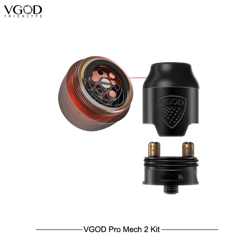 Nouveauté Original VGOD Pro Mech 2 Kit avec 2 ml Original Elite Rda atomiseur Cigarettes électroniques VS VGOD ELITE 200 Vape en acier - 4
