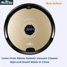 MinSu Smart Robot Vacuum Cleaner with Wet and Dry Clean MOP Water Tank HEPA Filter,Ciff Sensor,Self Charge PRO ROBOT ASPIRADOR