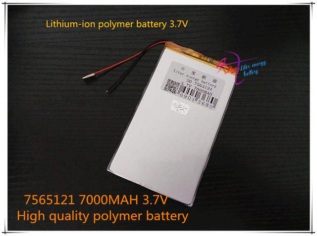 3.7V 7000mAH 7565121  ( polymer lithium ion battery ) Li-ion battery for tablet pc power bank cell phone speaker