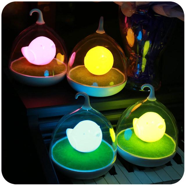 Jaula creativo cuerpo inducción nightlight LED dormitorio luz de noche sueño luminoso de carga inteligente de alimentación infantil