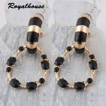 Royalhouse Fashion Big Earring Printed rings for women orecchini Ear bijoux femme Large Long Brinco Printing Oorbellen Earrings