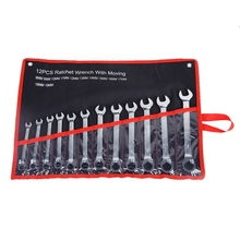 Fixed Head Combination Gear Nut Wrench With Ratchet Box End Open Spanner Auto Repair A Set Of Keys For Car Hand Tools