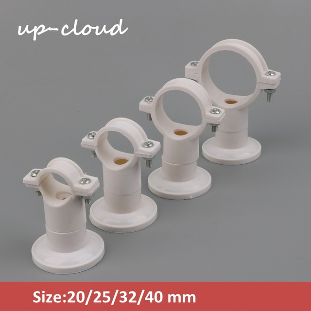 US $2 68 20% OFF|5pcs 20mm 25mm 32mm 40mm PVC Water Pipe Clamp PVC Pipe  Support PPR Pipe Bracket Garden irrigation Connector Hard Tube Clamp-in  Garden