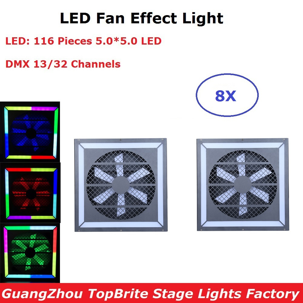Special Stage Machine LED Fan Effect Lights 116Pcs SMD 5050 LEDS With DMX For Disco Dj Projector Machine Party Light DecorationSpecial Stage Machine LED Fan Effect Lights 116Pcs SMD 5050 LEDS With DMX For Disco Dj Projector Machine Party Light Decoration
