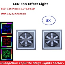 Special Stage Machine LED Fan Effect Lights 116Pcs SMD 5050 LEDS With DMX For Disco Dj Projector Party Light Decoration