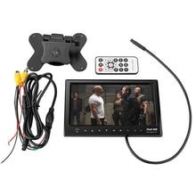 7 Дюймов Автомобиль MP5 Плеер для Видео Монитор Поддержка FM передатчик SD USB MMC Flash встроенный Динамик с Заднего Вида CCD Камера