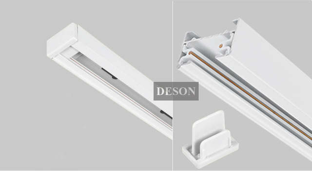 US $5 89 |2 Wire Phase LED Track light rail connector track lighting  fitting T track rail connector aluminum track accessories Black White-in  Track
