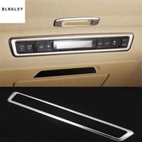 1pc stainless steel car ceiling Sunroofs air conditioning control adjustment panel decoration cover for 2015 2019 Toyota Alphard