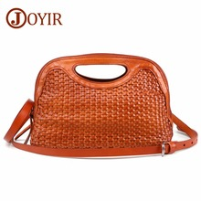 JOYIR Women Weave Genuine Leather Handbag Female Leisure Casual Lady Crossbody Shoulder Bag Messenger Top-handle Bags Sac