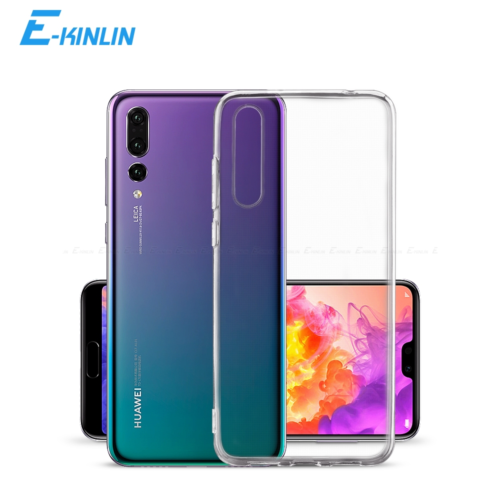 Clear Soft Silicone Back Cover For HuaWei P40 P30 P20 Pro Plus View Mate 30 20 X 5G Lite E XL Honor 30S 20S 20E 10i 10 TPU Case(China)