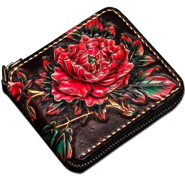 Hand-made Ladies Short Wallet