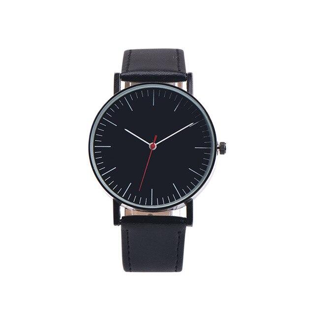 Retro Design Leather Band Analog Alloy Quartz Wrist Watch