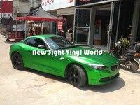 High Quality Matte Satin Chrome Green Vinyl Wrap Apple Green Satin Chrome Car Wrap Air Free