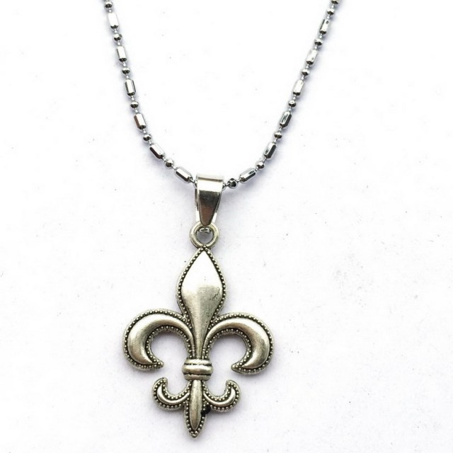 Fleur de lis necklace fleur de lis jewelry gift for new orleans fleur de lis necklace fleur de lis jewelry gift for new orleans saints aloadofball Image collections