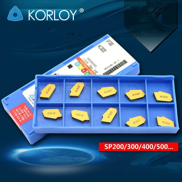 Korloy Cnc Carbide Turning Inserts Sp300 Nc3030 Grooving