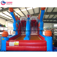 Promotion 3*3*4m inflatable basketball shoot game double hoops for adult manufacturer good inflatable basketball hoop for sale