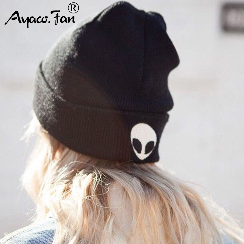 Winter Caps Fashion Women Embroidery Warm Soft HIP HOP Knitted Hats Men Solid Knit Cap Hat Bonnet Lady   Skullies     Beanies   for Girl