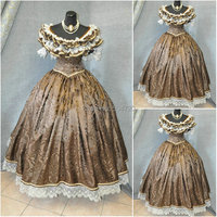 sc 641 Victorian Gothic/Civil War Southern Belle loose Ball Gown Dress Halloween Vintage dresses Custom made