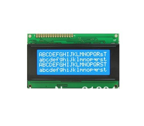 Free Shipping LCD2004 20x4 Character LCD Display Module HD44780 Controller blue backlight