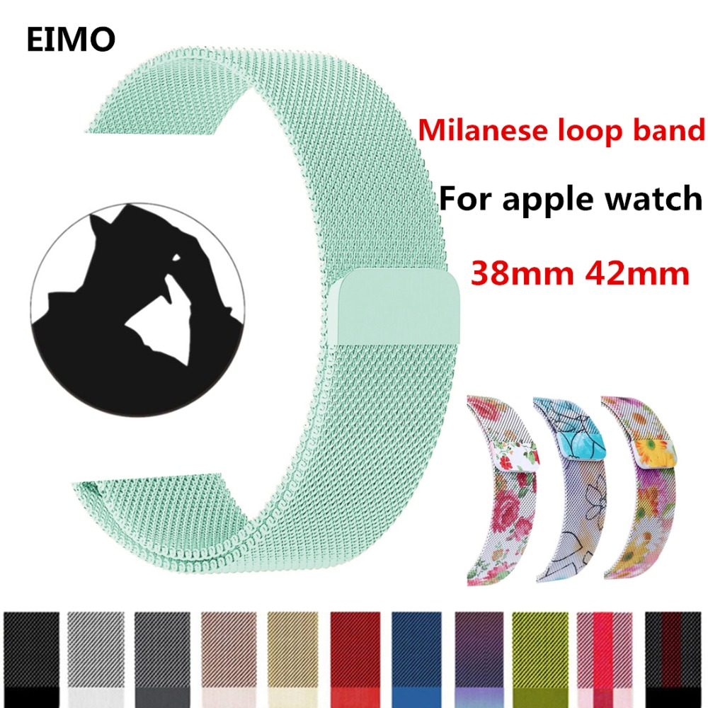 Milanese loop For Apple watch band strap series 3/2/1 iwatch band 42mm 38mm Stainless Steel metal Bracelet wrist belt watchband