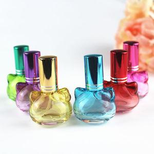 Image 2 - 1 pc 10 ミリリットルカラフルなガラスの香水瓶スプレー詰め替えアトマイザー香りボトル包装ボトル 5 色