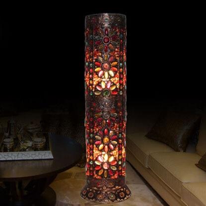 exotic handmade retro personality living room floor lamp bedroom den aisle decorative floor lamp - Decorative Floor Lamps