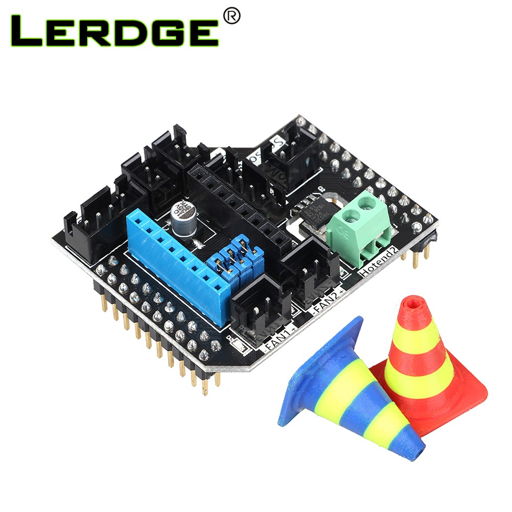 3D Printer Parts LERDGE-S Board Dual Extruder Module Double Extrusion Printhead Expansion Module 2 in1Out 2 in2 Out Module
