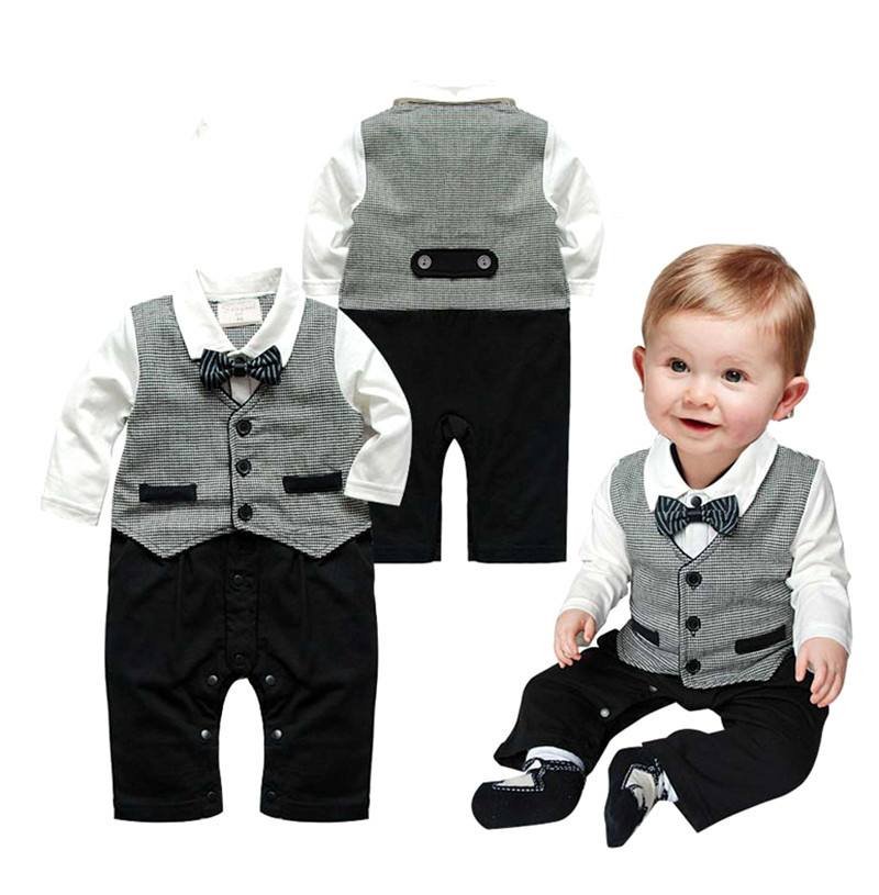 Baby Boys Clothes Autumn Baby Clothing Sets Spring Baby Boy Rompers Gentleman Roupas Bebes Infant Jumpsuits Newborn Baby Clothes 1