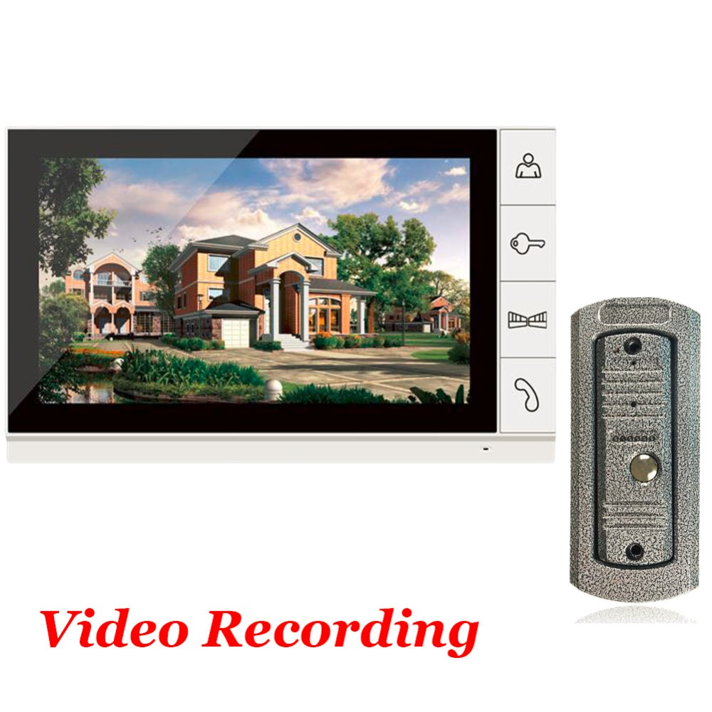 Home use 9 Inch Big Screen SD Card Video Record Door Phone Intercom System Doorbell IR