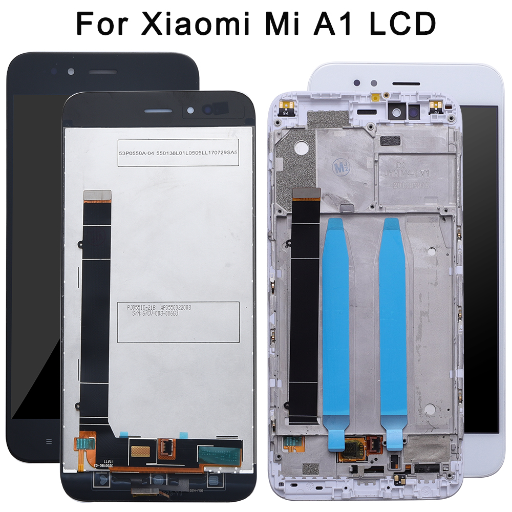 For XiaoMi Mi A1 LCD Display And Touch Screen +Frame Assembly Repair Parts 5.5'' Replacement Phone Accessory+Tools+Tapes
