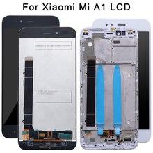Для Xiaomi Mi A1 ЖК-дисплей Дисплей и Сенсорный экран + рамка сборки ремонт Запчасти 5,5 »Замена телефона + Инструменты + ленты