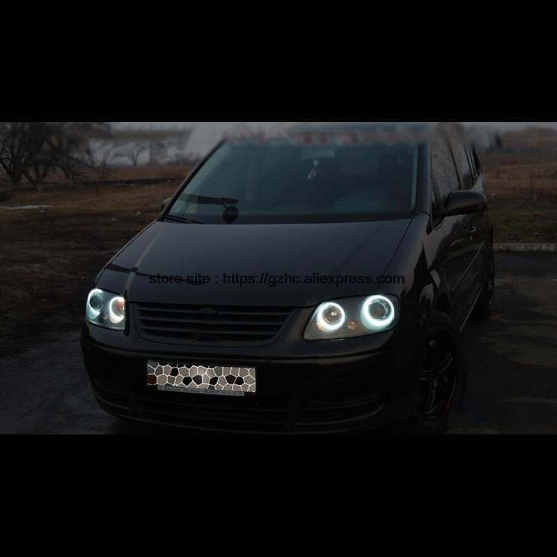 For Volkswagen VW Touran 2003 - 2006 Ultra Bright Day Light DRL CCFL Angel Eyes Demon Eyes Kit Warm White Halo Ring