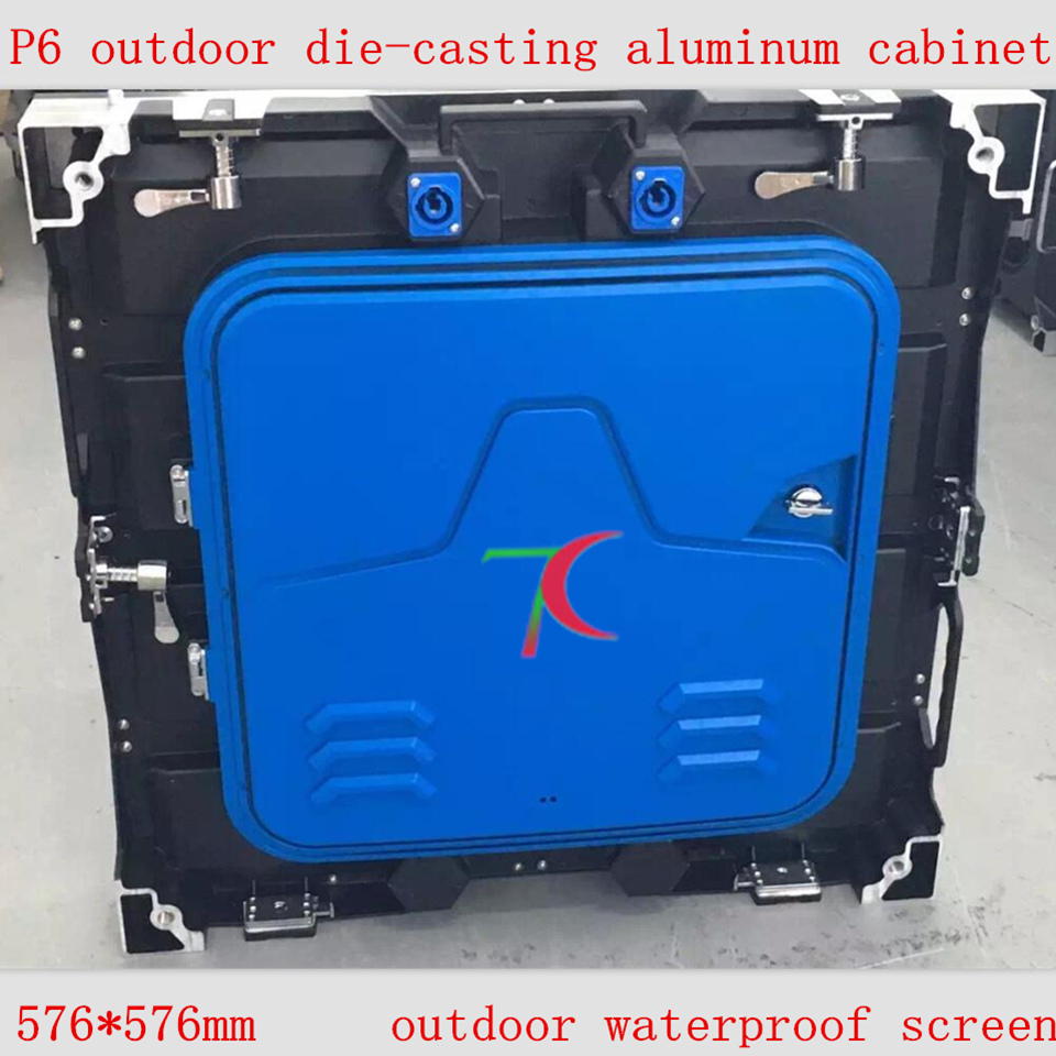 576*576mm P6 outdoor SMD die-casting aluminum equipment cabinet led screen for real business