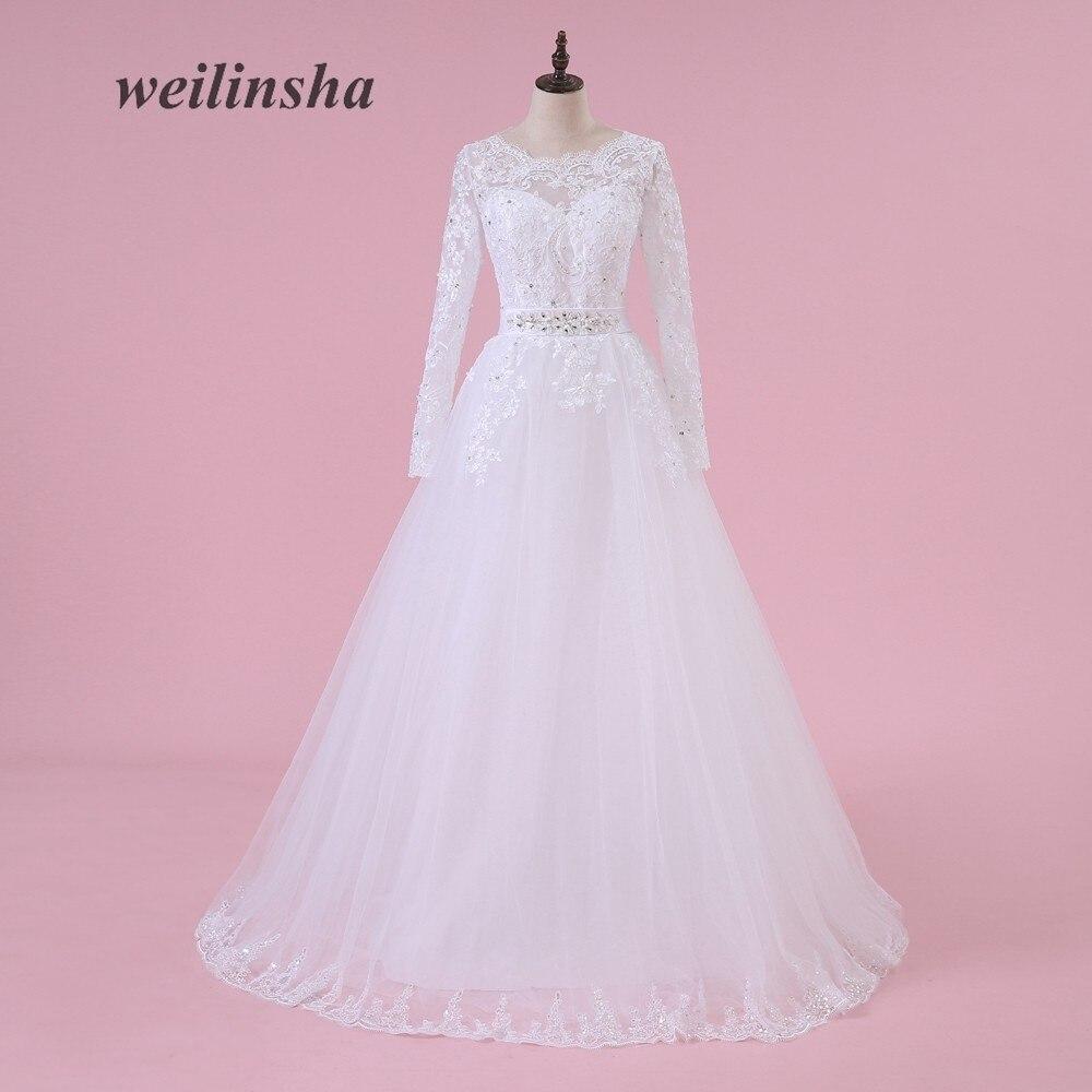 Tienda Online Vestido de novia 2018 barato Encaje Vestidos de novia ...