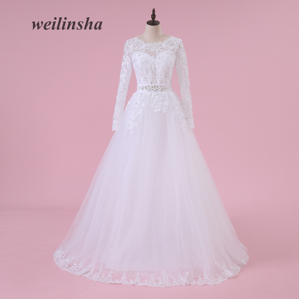 Buy weilinsha charming princess wedding for Simple romantic wedding dresses